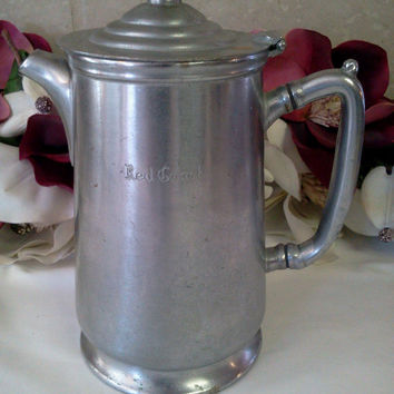 Vintage Coffee Pot Nickel Silver