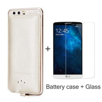 Battery Case Charger 4000mAh Power bank backup ForLG V10 K4 Leon H340 Spirit H422 V20 X Power K220DS Flex 1  Gift Tempered Glass