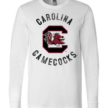 Official NCAA University of South Carolina Fighting Gamecocks USC COCKY SC Long Sleeve T-Shirt - 61C-SC