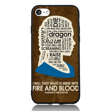 Game of DAENERYS TARGARYEN Dargon Thrones For iPhone 5s SE 6 6s 7 Plus Case TPU Phone Cases Cover Mobile Decor Gift