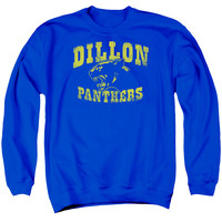 FRIDAY NIGHT LIGHTS/PANTHERS - ADULT CREWNECK SWEATSHIRT - ROYAL BLUE -