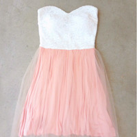 Sugar Peach Party Dress