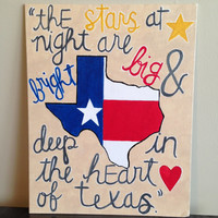 Texas themed acrylic painting