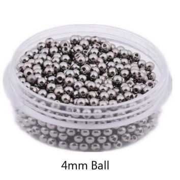 100pcs 14G 16G Stainless Steel Big Ball Balls Replacement Nose Barbell Earring Tongue Eyebrow Ring Body Piercing Jewelry