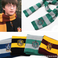 Harry Potter Scarf Scarves Gryffindor Hufflepuff Slytherin Knit Scarves Cosplay Costume Gift