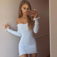 Women's summer sexy bandage Bodycon cocktail party mini skirt f