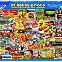 Burgers & Dogs - 1000 Piece Jigsaw Puzzle