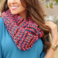 Good Vibrations Scarf: Red/Blue