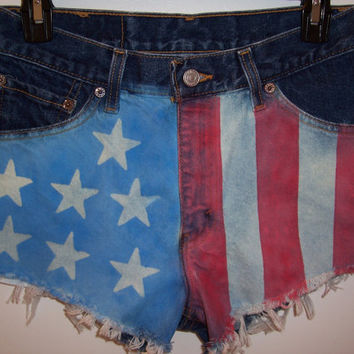 Vintage High Waisted American Flag Levis by BohoJane on Etsy