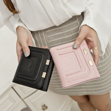 Leather Wallet Korean Purse [6048274241]