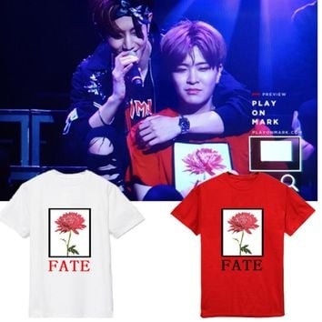 New GOT7 YOUNGJAE Concert The Same Print Summer Short Sleeve Tshirt