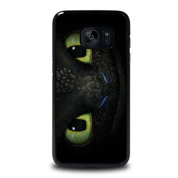 toothless how to train your dragon samsung galaxy s7 edge case cover  number 1
