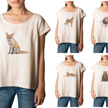 Women's Animal-7 Printed cotton T-shirt  Tee WTS_01