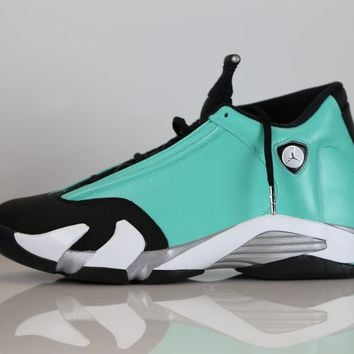 BC AUGUAU Custom Jordan Retro 14 Tiffany - size 10 completed custom ready to ship