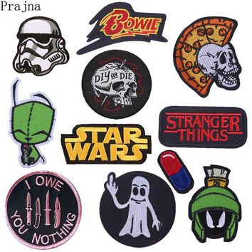 Prajna Jurassic World Star Wars Diet Patch Embroidered Iron On Patches For Clothes Stranger Things Black Movie Pride Patch Pill