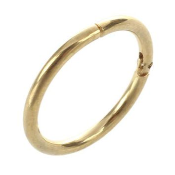 ac PEAPO2Q 1Pc Punk Women Men Hinged Segment Ring Septum Hoop Ear Lip Nose Ring Stud gold