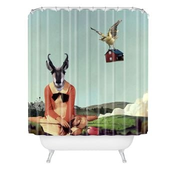 Natt Birdhouse Shower Curtain