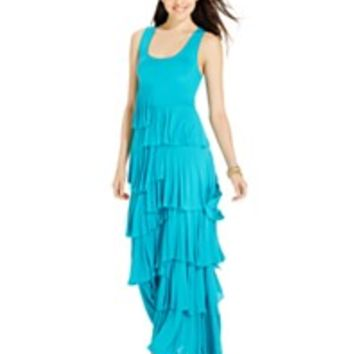 Grace Elements Tiered Ruffle Maxi Dress | macys.com