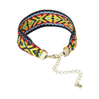 Folk Pattern Bracelet with Chain