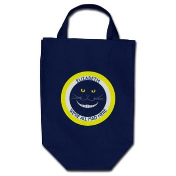 Transparent Cheshire Smiling Cat Grocery Tote Bag