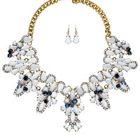 Azure Necklace Set - White