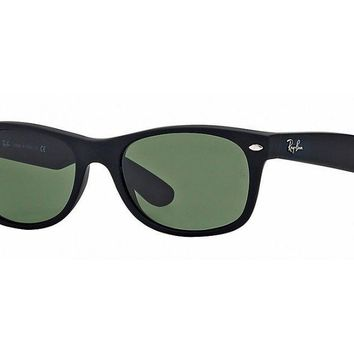 Sunglasses Ray-Ban RB2132 622 BLACK RUBBER/GLASS GREEN
