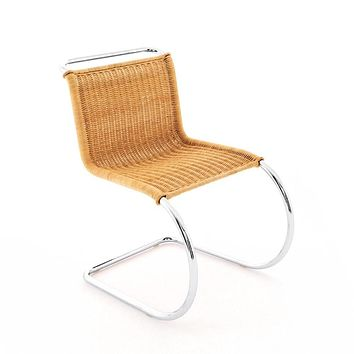 Knoll Mies van der Rohe MR Chair Rattan