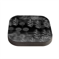 "Marianna Tankelevich ""Grey Dream"" Black Gray Coasters (Set of 4)"
