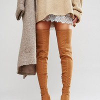 ASOS KASTOR Over The Knee Peep Toe Boots at asos.com