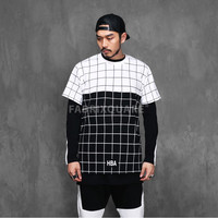 XQUARE 23 Contrast Grid T Shirt
