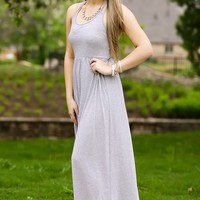 Forget About It Maxi -Grey | Dresses | Kiki LaRue Boutique