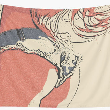 'Perfect curves, fit and sexy girl in jeans shorts' Wall Tapestry by sexyjustsexy