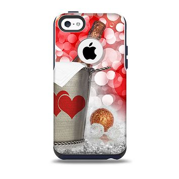 The Magical Unfocused Red Hearts and Wine Skin for the iPhone 5c OtterBox Commuter Case