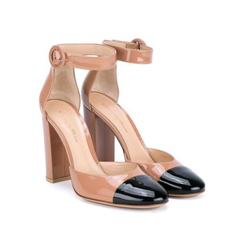 GIANVITO ROSSI | Block Heel Two Tone Pumps | Womenswear | Browns Fashion