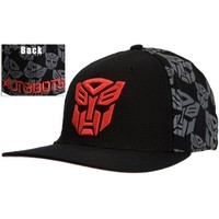 Transformers - Mens Transformers - Autobots Print Fitted Cap Black