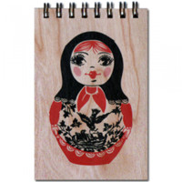 Wood Notepad Matrushka Small