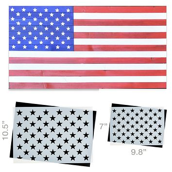 50 Star Stencil (2PK) Ideal for creating American Wood Flags