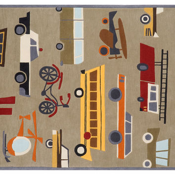 Traffic Rug, Multi, Acrylic / Lucite, Area Rugs