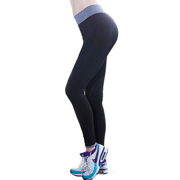 2015 Hot!! fitness women running tights sports push-up elastic sport pants women fitness women sport trousers running pants gym