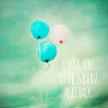 i love you to the moon and back Stretched Canvas by Sylvia Cook Photography