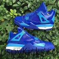 [ FREE SHIPPING ] AIR JORDAN 4 (11LAB4 BLUE PATENT LEATHER)