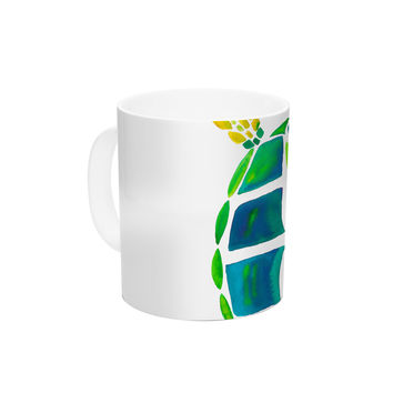 "Catherine Holcombe ""Turtle Love"" Green Teal Ceramic Coffee Mug"