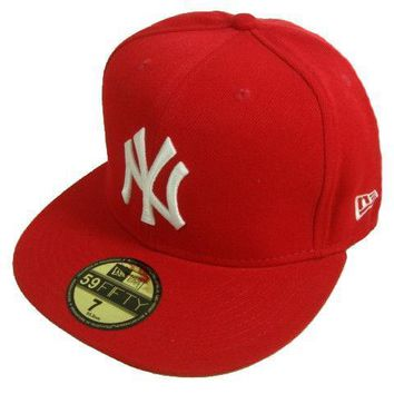 ESBON New York Yankees New Era MLB Authentic Collection 59FIFTY Cap Red-White