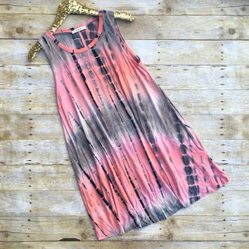 Pretty Pink Tie Dye Dress