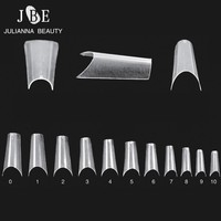 Completely Curved Nail Tips Bend Salon ABS Faux Ongles French Manicure Long Nail Art Deep Smile Line Nail Tips 550PCS/Lot