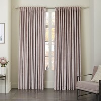 Cotton Luster Velvet Curtain - Dusty Blush
