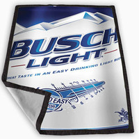 New Busch Light Beer Blanket for Kids Blanket, Fleece Blanket Cute and Awesome Blanket for your bedding, Blanket fleece **