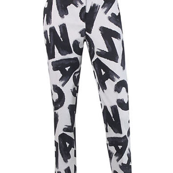 Isaac Mizrahi New York Printed Ankle Pants