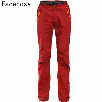 Facecozy Women&Men Summer Style Camping Pant Outdoor Quick Dry Hiking&Climbing Trouser Breathable Anti UV Hunting Pants Couples