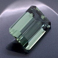 Green Amethyst: 23.41ct Emerald Shape Gemstone, Faceted Mint Green Prasiolite, Vermarine, Lime Citrine Gem, DIY Loose Quartz Mineral, 20845